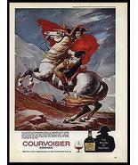 NAPOLEON Horseback Jacques-Louis David 1974 Print Ad Courvoisier Cognac - $14.99