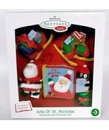Hallmark Keepsake Kids Jolly Ol' St Nicholas Ornament Story Book Set Bra... - $32.95