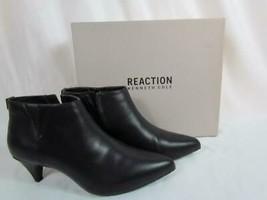 NIB Kenneth Cole Reaction Black Stacked Kitten Heel Pointed Toe Zip Boot... - $67.82