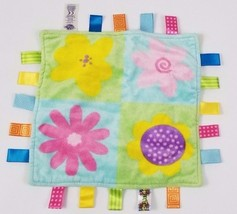 Taggies Full Bloom Flower Patchwork Baby Girl Lovey Security Blanket  - $25.38 CAD