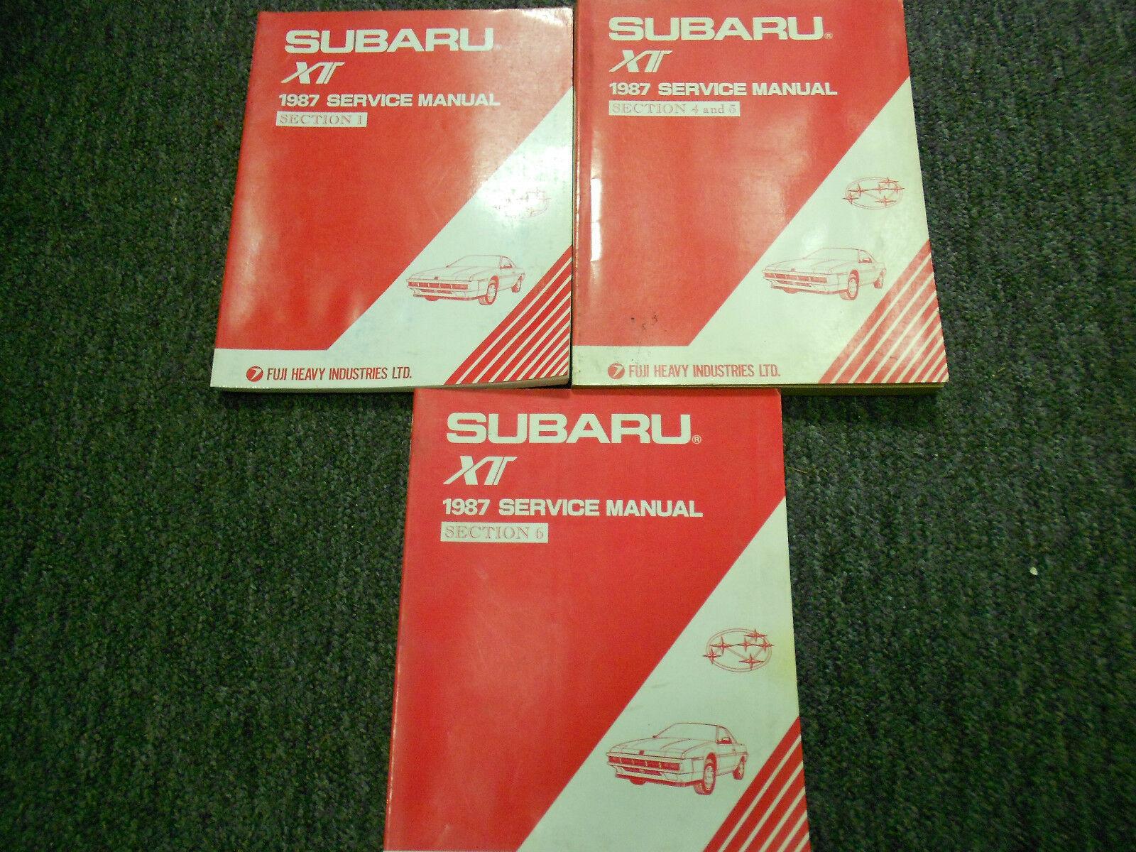 1987 Subaru XT Service Reparatur Shop Manuell Set Fabrik OEM Bücher 87