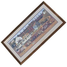 Charles Wysocki Storin Up Framed Limited Edition Print 26 in x 56 1/2 in - $696.25