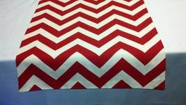 RED CHEVRON RUNNER- Zigzag red and white zig zag table runner,  Chevron ... - $12.50