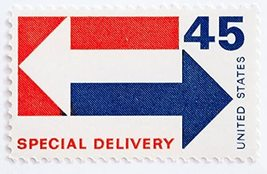 1969 US Special Delivery 45-Cent Postage Stamp Catalog Number E22 MNH