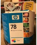OEM Genuine HP 78 Tri-Color Inkjet Print Cartridge Cyan Magenta Yellow C... - $9.99