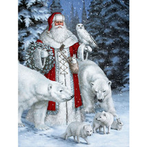 "Santa Chrismas 16X20"" Paint By Number Kit DIY Acrylic Oil on Canvas Fram... - $8.90"
