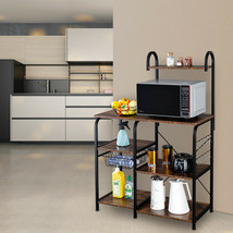Modern Kitchen cart with 10 hooks kitchen Holder rack Adjustable leg pads - $80.49
