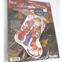 BUCILLA SILK RIBBON EMBROIDERY OLD WORLD SANTA 83310 NWT - $49.49