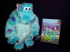 Large Disney Store Monster's Inc Plush Sully 15'' Inches & Monsters Inc Book - $89.09