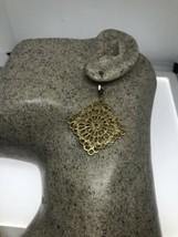VINTAGE Filigree EARRINGS GOLD FILLED LEVER BACKS - $95.03