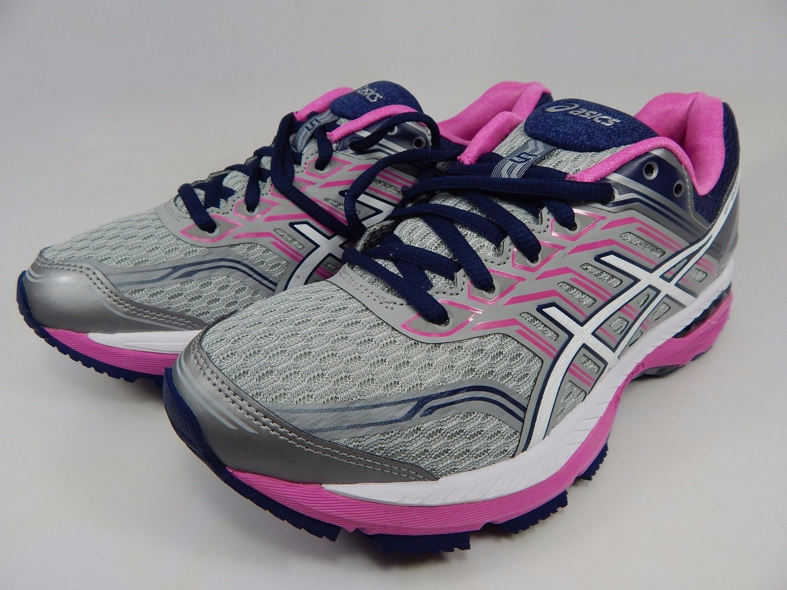 Asics GT 2000 v 5 Women's Running Shoes Size US 7 M (B) EU 38 Silver Blue T757N