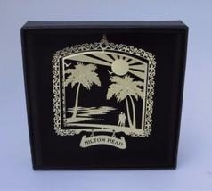 Hilton Head Brass Ornament South Carolina Travel Souvenir - $16.00