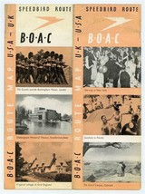 B O A C Route Map UK to USA Speedbird Route 1946 British Overseas Air Corp - $245.52