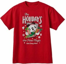 Wdw Disney 2018 The Holidays Are Pure Magic Red T-SHIRT Size Xl New With Tag - $29.99