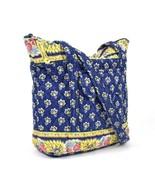 Vtg 90s Vera Bradley Shoulder Bag Purse Satchel Blue Floral Quilted Cott... - $19.79