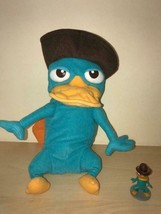 Disney Phineas and Ferb TRANSFORMING PERRY Plush  AGENT PERRY w/PVC Toy - $11.88