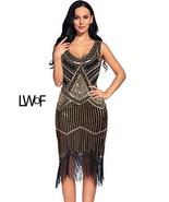 Flapper Girl Women's Vintage 1920s Sequin Beaded Tassels Hem Flapper Dress - $85.99+