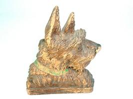 Vtg Syroco Wood Scottie Scottish Terrier Dog Brush Holder MCM Kitsch - $24.70