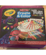 Crayola Trolls World Tour, Neon Create & Color Art Set, 70+ Art Supplies... - $17.95