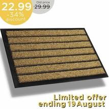 Extra Durable Striped Doormat Outdoor - Rubber Doormat Indoor - Non-Slip... - $38.94+