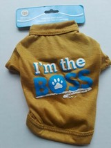 """Printed knit Dog  T-shirt  Greenbrier """"I M the boss"""" on front N 7"""", L-9""""... - $5.93"""