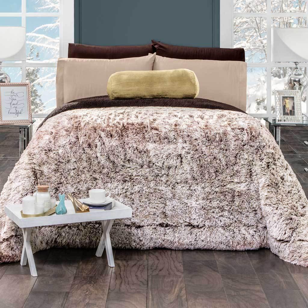 MANCHAS CAFE deluxe Blanket Cobertor de lujo  Intima Hogar  - $109.95 - $125.95