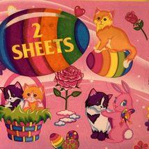 Vintage Lisa Frank Easter Sticker Sheets (2) Sealed In Original Package RARE HTF image 3