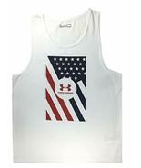 Under Armour Men's HeatGear Patriotic Flag Sleeveless Tank Top XL 130570... - $24.99