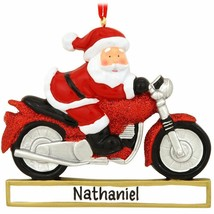 Motorcycle Personalized Christmas Tree Ornament - $14.95