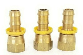 LOT OF 3 NEW PARKER UA-4D 8-8-8 NIPPLE FITTINGS SAE JIC 3/4'' IN. THREAD 3/8''