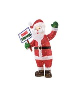 Toasty Tinsel 60 in. 200L LED Tinsel Santa With Sign - $167.38
