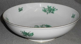 ROSENTHAL Bahnhof Selb AIDA PATTERN - GREEN FLORALS Vegetable Bowl GERMANY - $23.75