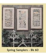 Spring Samplers REPRINT cross stitch chart Prairie Schooler  - $10.80