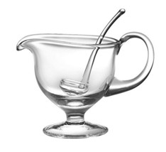 "Barski- Glass - Gravy Boat with Ladle - Gravy is 8.5"" L - 5""H - Ladle is... - $64.01"