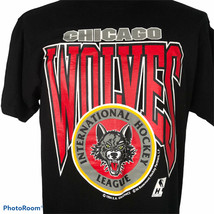 1994 Skates Chicago Wolves Ice Hockey T Shirt Size L Deadstock Single St... - $79.16