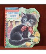 Christmas Kitten  A Sturdi-Contour Book 1966 Board Book Childrens - $7.53