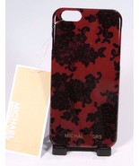 New In Box Michael Kors Lace-Print iPhone 6s, 6 S Plus Case Cherry - $28.15