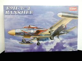 Academy 1/72 Plastic Model Kit F2H-3/-4 Banshee #1626 Sealed Box - $27.00