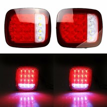 2X 16 LED Truck Trailer Stud Mount Stop Turn Tail back up Light Red/Whit... - $30.50