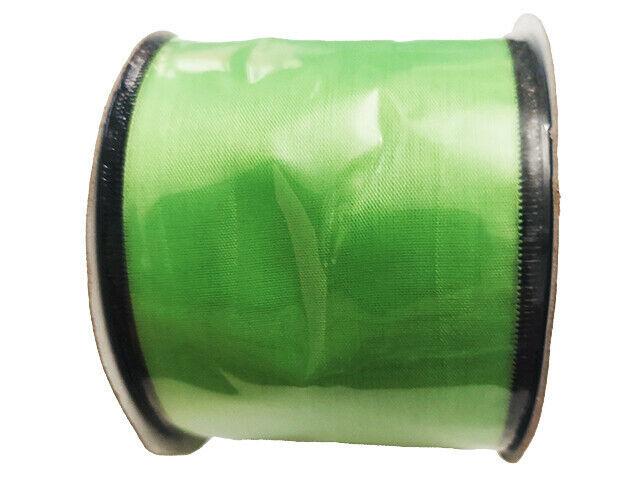 "Momentum Halloween 2.5"" Wire Ribbon, 3 Feet, Green & Black"