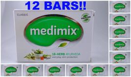 12 Bars Medimix 125grams Classic Ayurvedic Soap 18 Herbs Skin Protection - $26.00