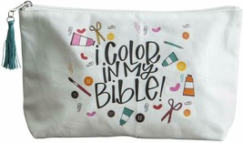 I Color In My Bible Canvas Pouch for Bible Journaling - NWT - $14.36