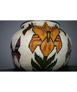 Museum Wounaan Indian Hosig Di Masterpiece Art Basket Orchid Flowers 300A29 - $2,849.05
