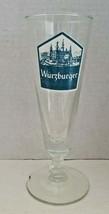 Vintage rare 1970's wurzburger brewery barware glass 10 oz. pilsner (37) - $14.99