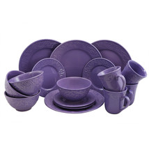 Elama Lilac Fields 16-Piece Dinnerware Set - $87.45