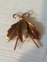 Vintage Copper Flying Insect Bee Brooch Pin - $13.09