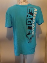 American Eagle Size S Small Shirt Graphic Blue Athletic Fit Casual Men's Tee - $5.24