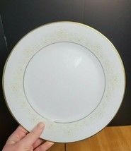 Noritake Dearest China Dinner Plate White & Brown Floral Trim 1970's - $8.90