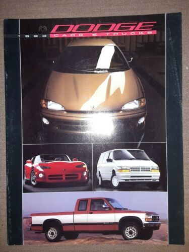Primary image for 1993 Dodge Full Line Brochure Cars and Trucks