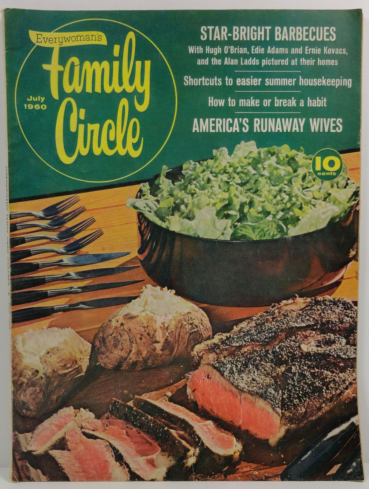 Family Circle Magazine July 1960 Celebrity Barbecue Recipes